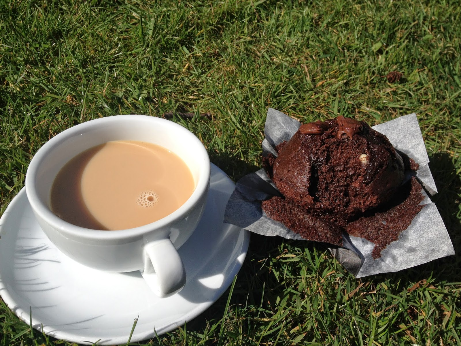 Tea and Chocolate Muffin