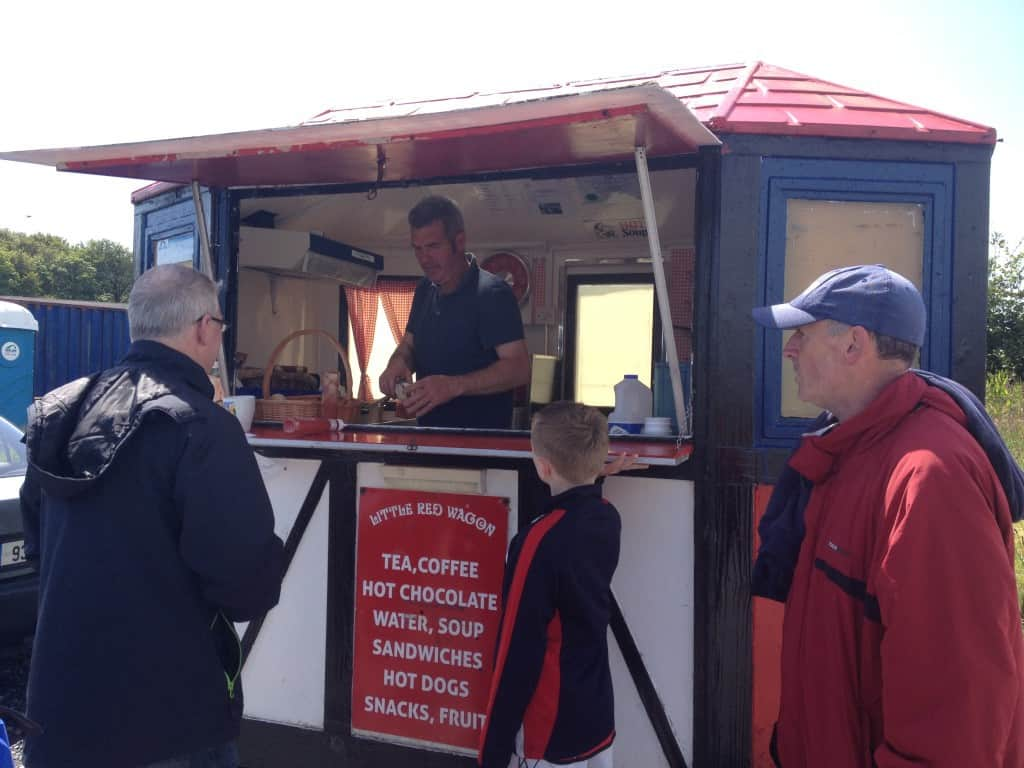 The Red Wagon, serving hot dogs, & Drinks