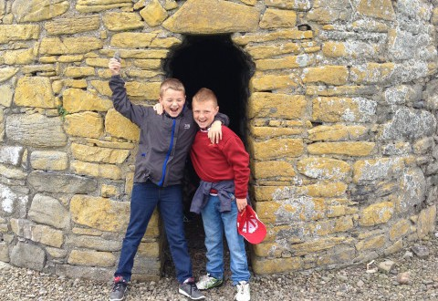 Boys on Scattery Island