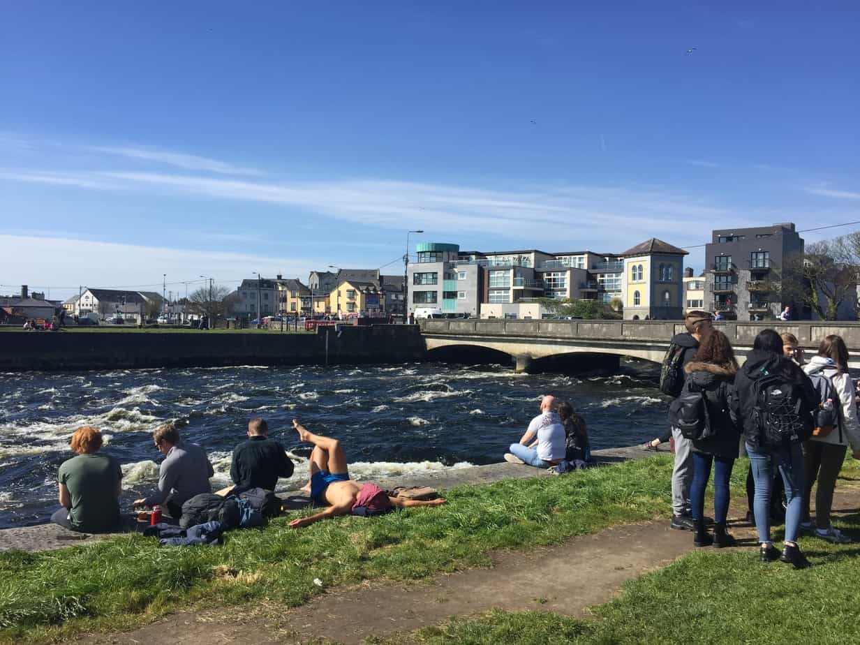 Lunchtime Galway City on a sunny day!