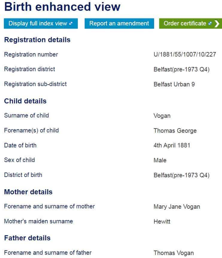 Enhanced view Groni Birth certificate