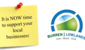 Image of Burren Lowlands logo and to support local companies