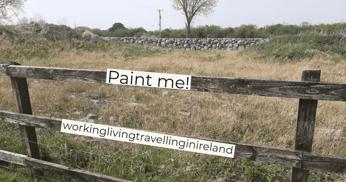 Image of a fence that needs painted