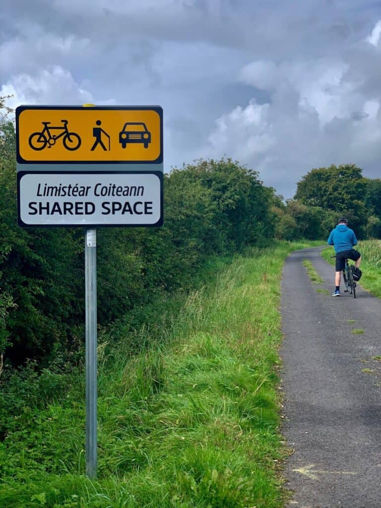 Shared Road Sign