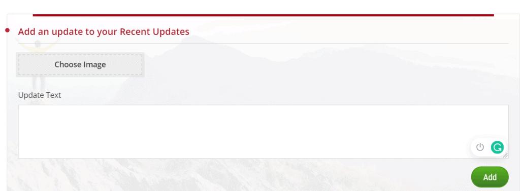 Update fields Idonate Fundraiser