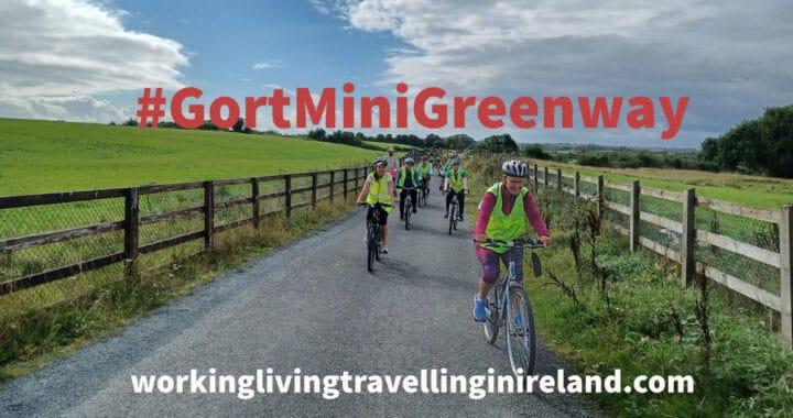People cycling on the #GortMiniGreenway
